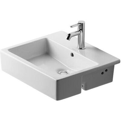 Duravit Vero Félig beépíthető mosdó 55x47cm csaplyukkal túlfolyóval 0314550000