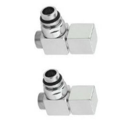 Sapho Cube Sarokszelep Csomag Radiátorhoz Polírozott Inox