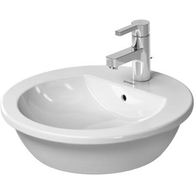 Duravit Darling New Ráültethető mosdó 47cm átm. túlfolyóval csaplyukkal 0497470000