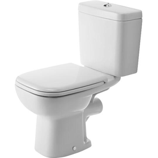 Duravit D-Code Álló WC kombináció mélyöblítésű hátsó kifolyás ráültetett öblítőtartálynak kialakítva 21110900002