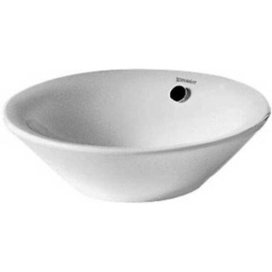 Duravit Starck 1 Ráültethető mosdó átm.53cm túlfolyóval csaplyuk nélkül 0408530000 0408530000