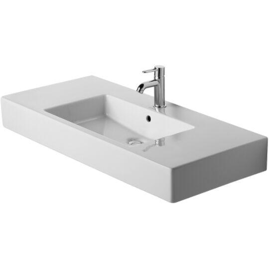 Duravit Vero Bútorral aláépíthető mosdó 125x49cm túlfolyóval csaplyukkal 0329120000