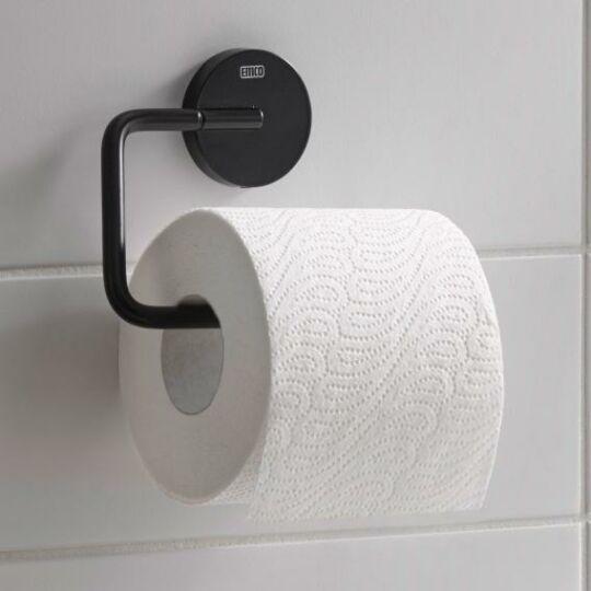 Emco Round WC papír tartó, fedél nélkül, fekete, 430013300