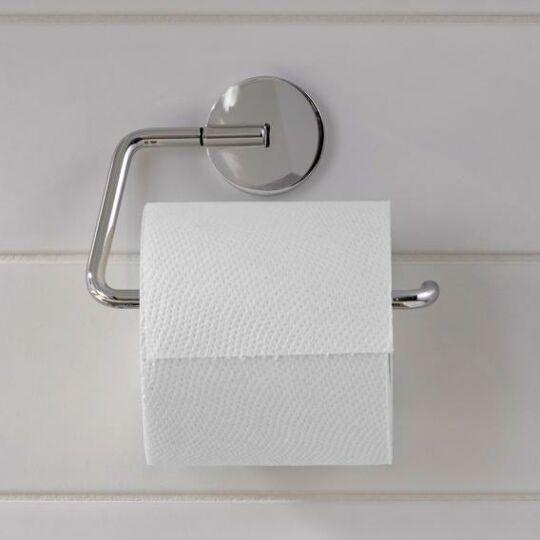 Emco Round WC papír tartó, fedél nélkül, króm, 430000100