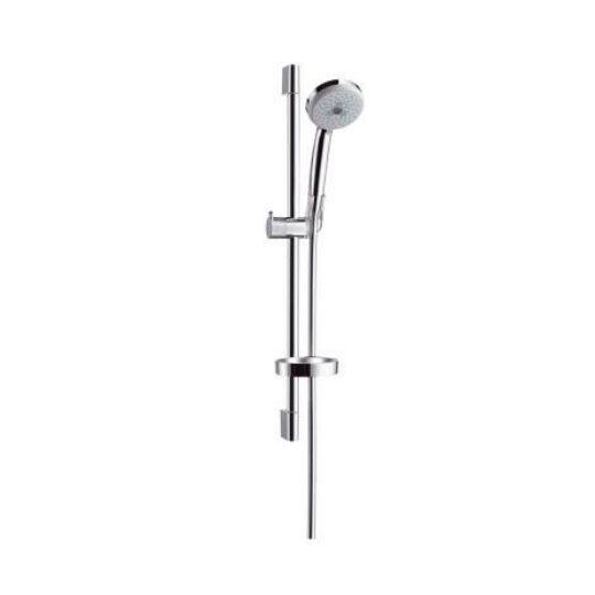 Hansgrohe Croma 100 Multi zuhanyszett, 65 cm-es zuhanyzórúddal, 1,6m-es MetaFlex zuhanycsővel, 27775000
