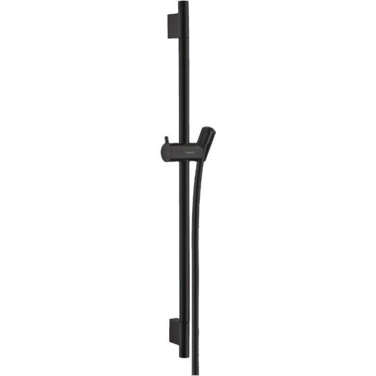 Hansgrohe Unica'S Puro zuhanyrúd, matt fekete, 65cm, 28632670