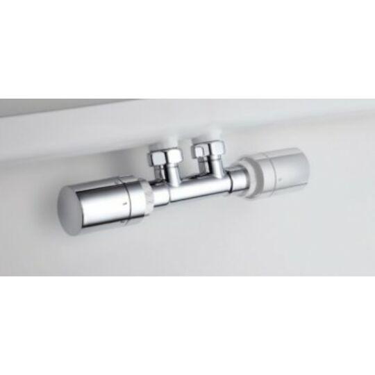 HSK bekötőszett, design termosztátfejjel, króm, U890829