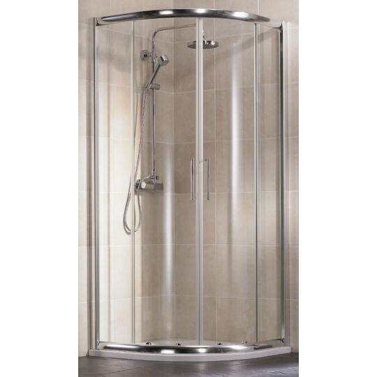 HSK Imperial negyedköríves zuhanykabin, króm, 90x90x185cm, U155090550/185