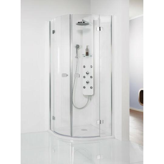 HSK Premium Softcube 4-részes negyedköríves zuhanykabin 80x80cm króm