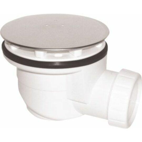 Hüppe EasyStep lapos lefolyó és króm lefolyfedél max.0,5l/s bűzelzáró vízrétegmagasság 40mm