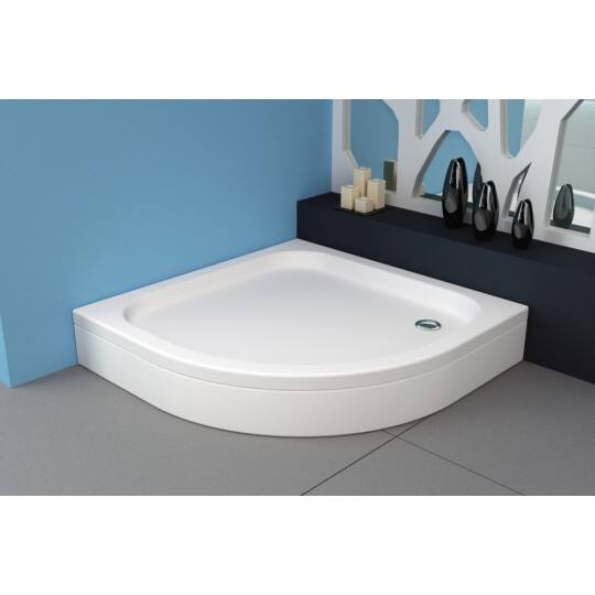 Kolpa-San Ontex beépíthető akril zuhanytálca, előlap és szifon nélkül, 90x90xcm, 754880