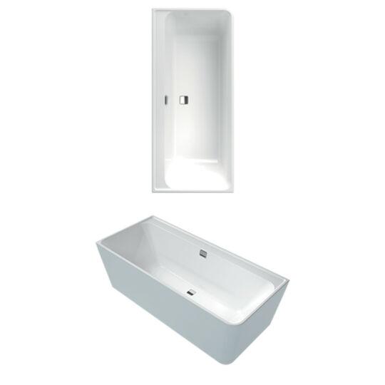 Villeroy & Boch Collaro akril fürdőkád, kádlábbal, le- és túlfolyó nélkül, 180x80cm, UBA180COR9CLBCVD01