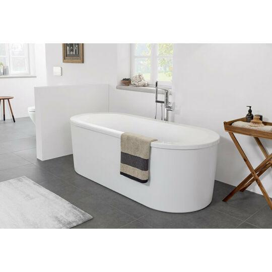 Villeroy & Boch Loop & Friend szabadon álló akril fürdőkád, le- és túlfolyóval, kádlábbal, 180x80cm