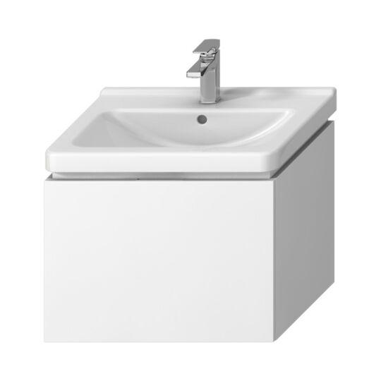 Jika Cubito Pure alsószekrény, 1 fiókkal, 59x48cm, fehér színben, mosdó nélkül, H40J4233015001