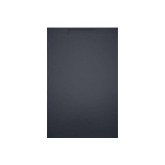 Riho Isola szögletes, akril zuhanytálca, antracit színben, szifonnal, előlap nélkül, 90x90cm, DR220800000000S