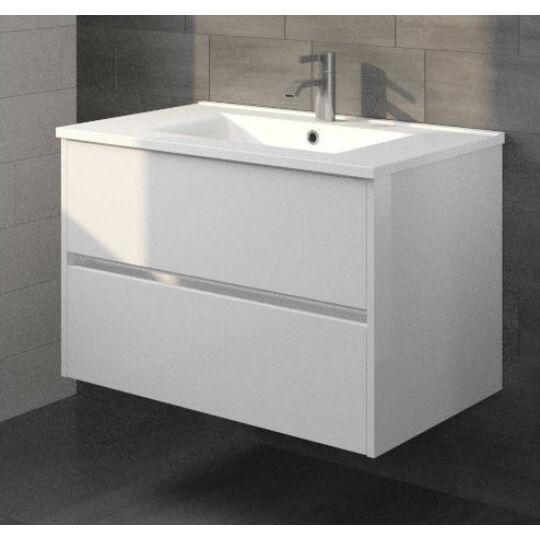 Riho Porto fürdőszoba bútor szett, 2 fiókos alsószekrénnyel, mosdóval, fehér színben, 100x46cm, SET10FPO100DP0S10