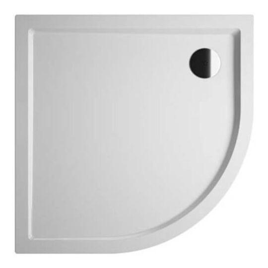 Riho Zürich negyedköríves akril zuhanytálca, előlap és szifon nélkül, 120x90cm, DA8800500000000