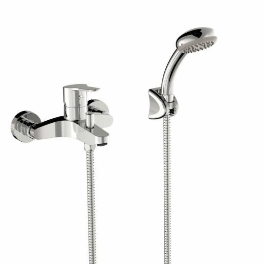 Tres Base kádcsaptelep, zuhanyszettel, króm, 21517001