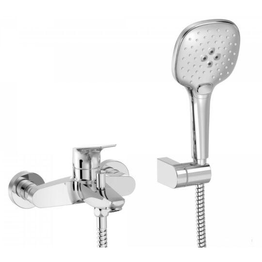 Tres Canigo kádcsaptelep, zuhanyszettel, króm, 21717001