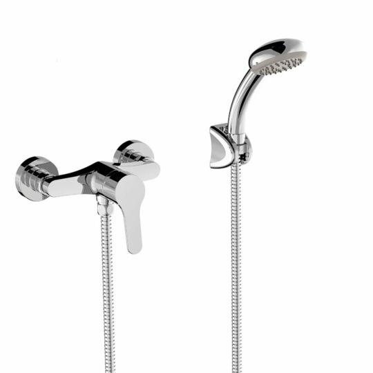 Tres Base zuhanycsaptelep, zuhanyszettel, króm, 21516701