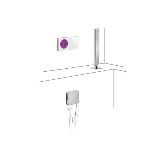 Tres Falsík alatti peremre szerelhető termosztatikus Digitális kádtöltő és zuhany csaptelep 092.865.71