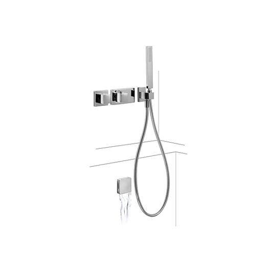 Tres Falsík alatti termosztatikus Kádtöltő és zuhany csaptelep 207.252.06
