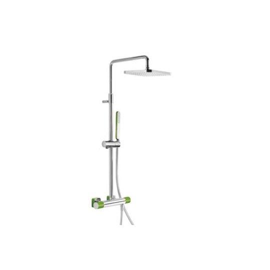Tres Loft Termosztátos zuhanyrendszer Zöld 200.195.01.VE